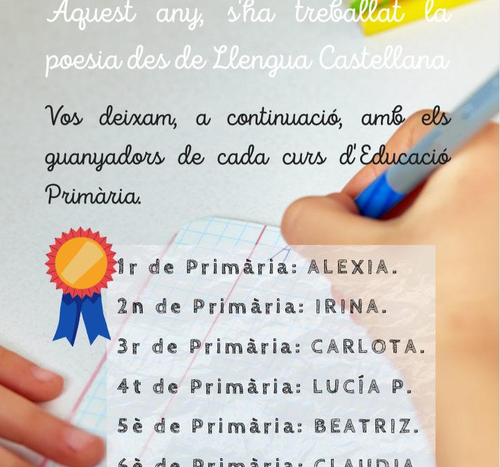 CERTAMEN LITERARI EDUCACIÓ PRIMARIA
